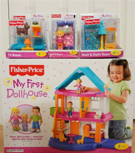 first doll house fisher price my first dollhouse playset furniture sister accessories set ebay