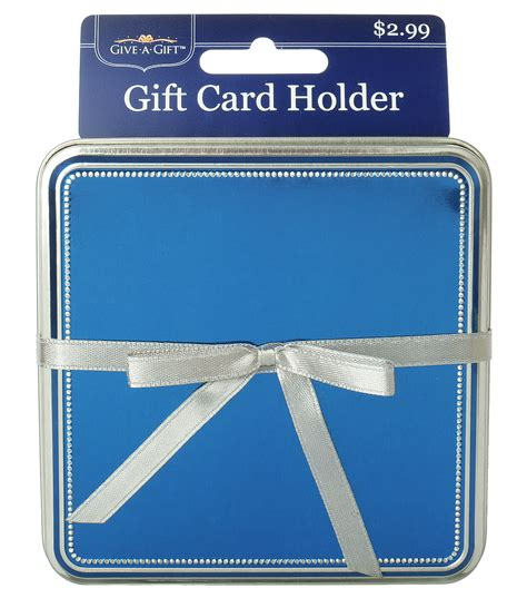 Joann Gift Cards - blue with silver ribbon gift card holder jo ann