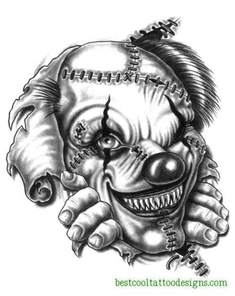 clown face tattoo designs clown joker designs