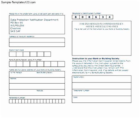 credit card direct debit form template 12 direct debit form template iizte templatesz234