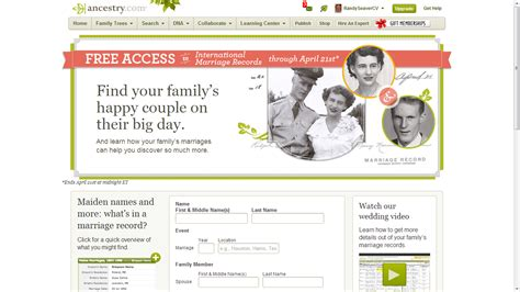 Ancestry Marriage Records Free Genea Musings Tuesday S Tip Ancestry International Marriage Records Are Free From