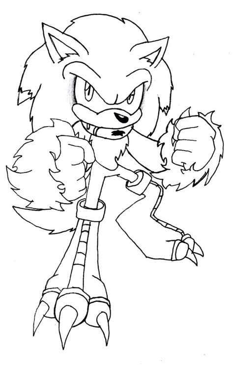 sonic the werewolf coloring pages coloring pages