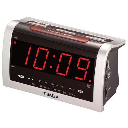 timex jumbo display alarm clock radio walmart