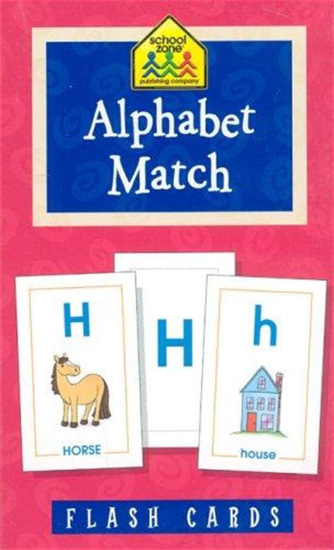 Flash Card Schoolzone 9 activity school zone flash cards alphabet match 04021 by school zone on eltbooks 20