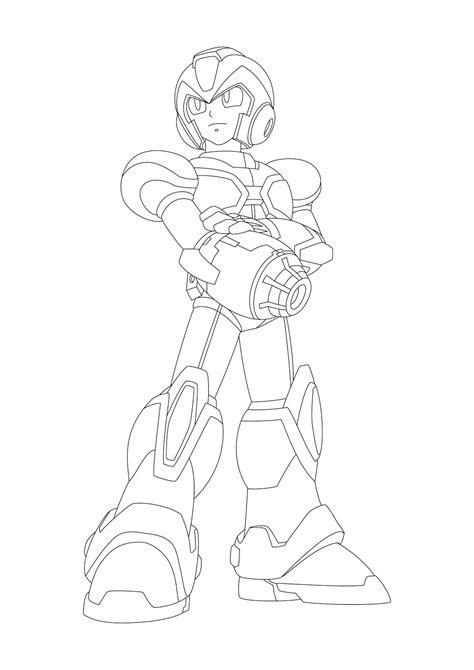 Desenho para colorir e imprimir Mega Man X PDF
