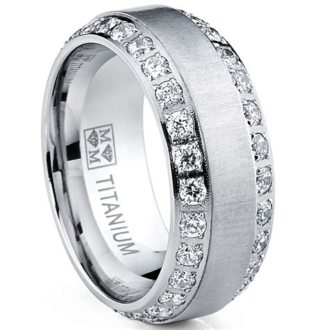 mens or womens eternity titanium lcs wedding band