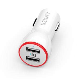 Original Anker A2310611 Powerdrive 2 24w Car Charger 2 Usb Port Fast anker 24w dual usb car charger powerdrive 2 for iphone x 8 7 6s plus