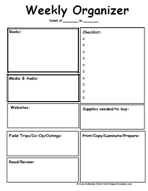 Homeschool Lesson Planner Pages Homeschool Lesson Plan Template