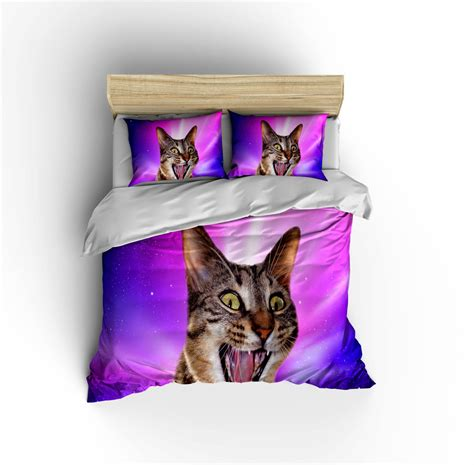 cat bedding sets epic space cat bedding set crazy cat in space duvet cover