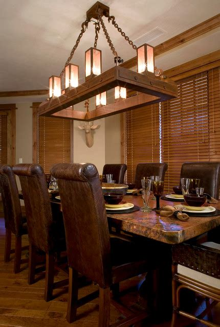 Rustic Dining Room Lighting Ski Slope Chandelier Rustic Dining Room Sacramento By High C Home