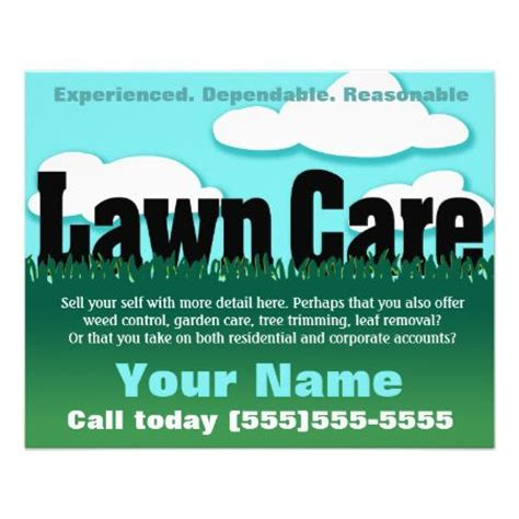 lawn care advertising flyers new the 25 best flyer template ideas on