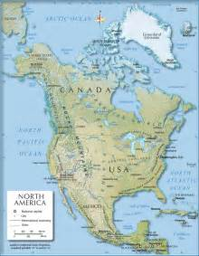 america physical map shaded relief map of america 1200 px nations