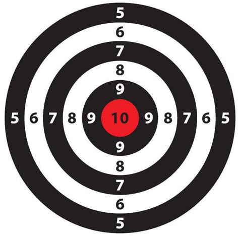 Free Printable Targets Targets In 2018 Shooting Target Template