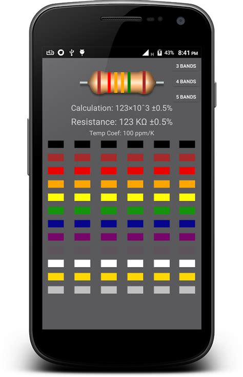 resistor color code calculator resistor color code calculator android apps on play