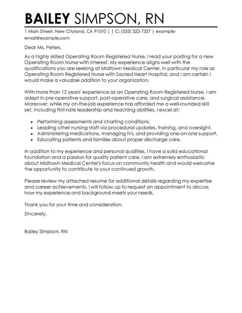 Cover Letter Exles For Nurses by Sle Nursing Cover Letter Sle Cover Letters