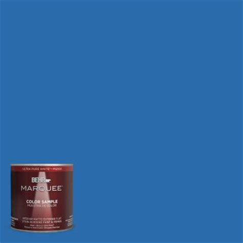 behr marquee 8 oz mq4 24 electric blue interior exterior paint sle mq30316 the home depot