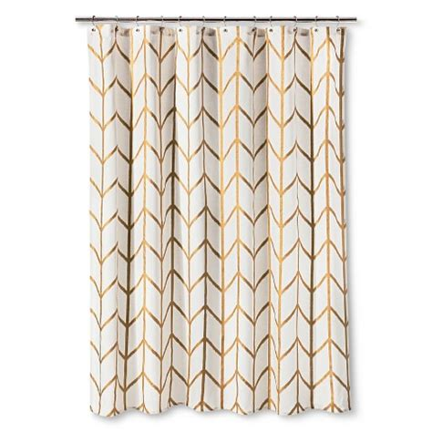 Shower Curtain Gold Ikat Threshold Target
