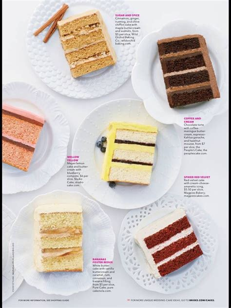 Brides Magazine   Cake Flavors   Wedding Cake   Cake