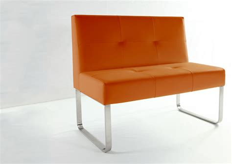 indoor bench with backrest genoa spicy orange dining bench with backrest