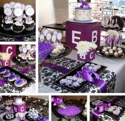 purple baby shower ideas black white and purple baby shower baby shower ideas for my
