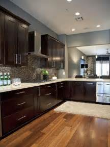 Java Stain Kitchen Cabinets - espresso cabinets and blue grey wall paint try java gel