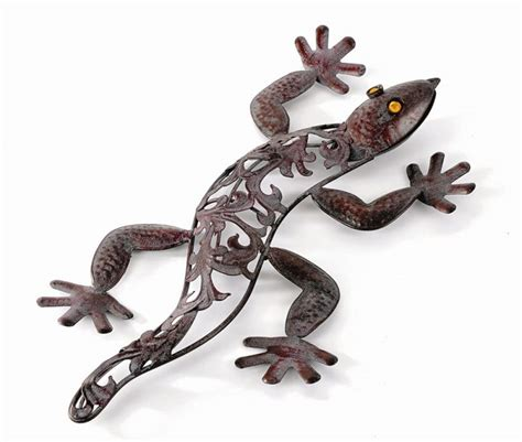 metal garden wall outdoor outdoor metal lizard garden wall h42cm 163 8 99
