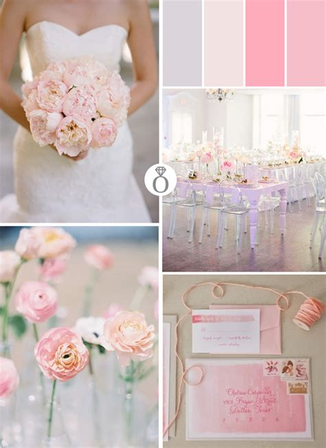 pale pink wedding color palettes in 2019 pink blush fuschia weddings pink wedding colors