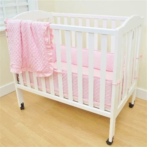 Portable Mini Crib Bedding Sets American Baby Company Heavenly Soft Minky Dot Chenille Portable Mini Crib Bedding Set Pink 3
