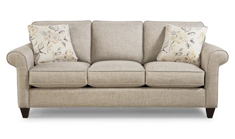 Sofas And More by Transitional Sleeper Sofa With Sock Rolled Arms By