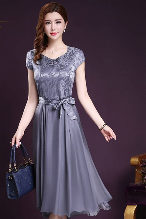 Dress Top Bow kettymore silk printed top bow waist prom