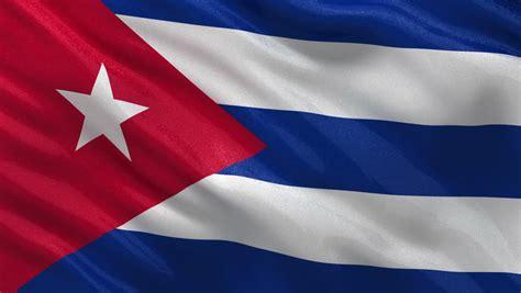 cuban cuba flag 3d waving cuba flag background red blue and white colors