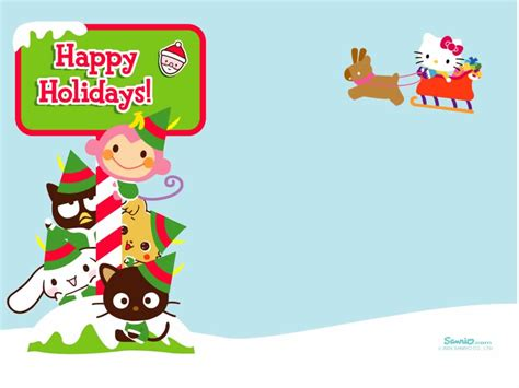 hello kitty christmas wallpaper free hello kitty christmas backgrounds wallpaper cave