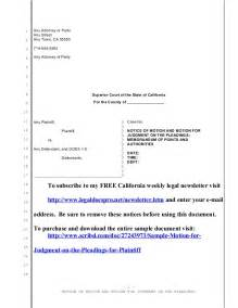 pleading template sle california motion for judgment on the pleadings for