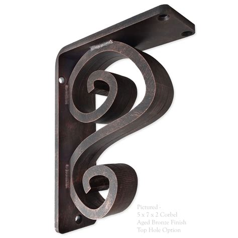 Iron Corbel our arts n crafts wrought iron corbel measures 2 quot wide is available in 6 bracket sizes and 5