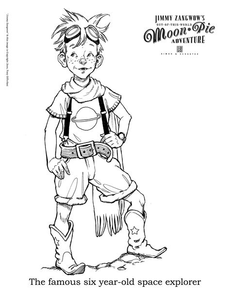 moon pie coloring page tony diterlizzi never abandon imagination jimmy zangwow
