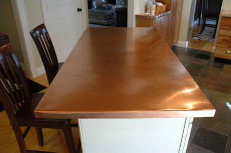 Countertop Shop by Custom Kitchen Copper Counter Top Using Copper For