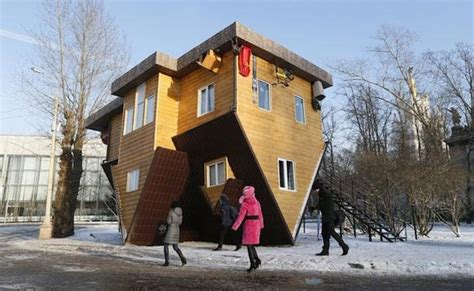 russian home step inside a russian home built completely upside down
