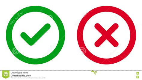 open check open and icons check or tick delete sign vector