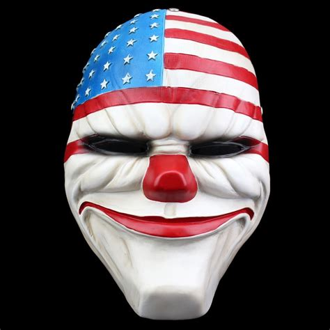 high quality resin payday mask life size   heist