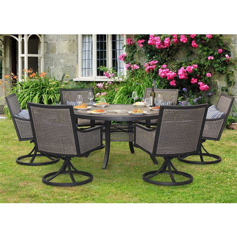 7 Pc Patio Dining Set Sunjoy 7 Myna Patio Dining Set