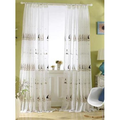 floor to ceiling sheer curtains ivory nautical floor to ceiling embroidered childrens