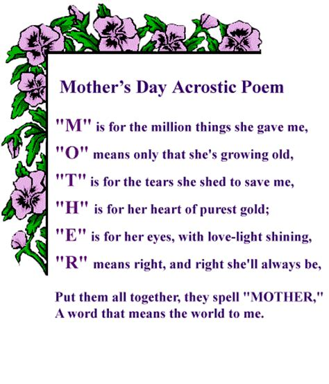 cards for s day special mothers day poems ecards