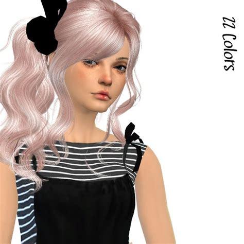the sims 4 cc hair ponytail my sims 4 blog newsea hair retexture and peggy 532 hair