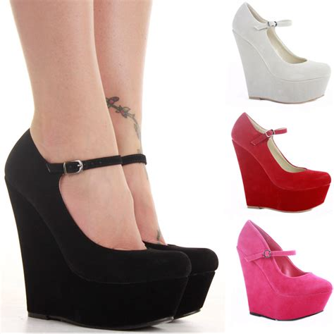wedge shoes smart pumps wedges high heel ankle