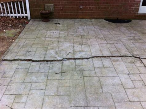 cracked patio