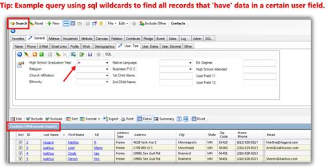 sql search query tutorial how to rename user fields query by them add them to the