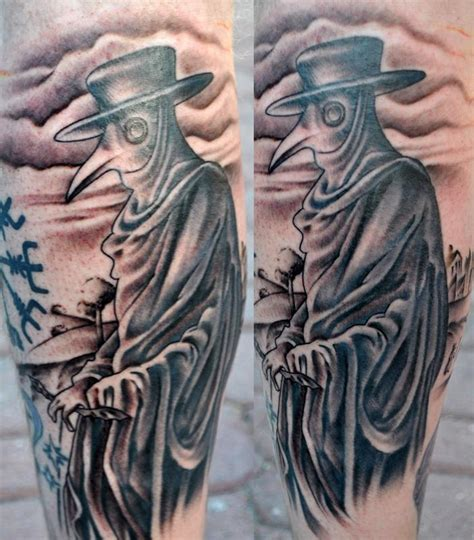 plague doctor by brandon roberts tattoonow
