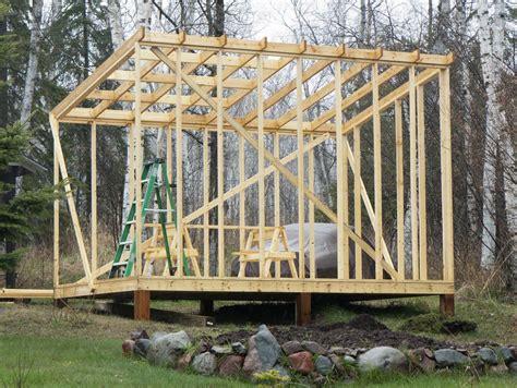 building  shed roof woodworking pinterest cottage