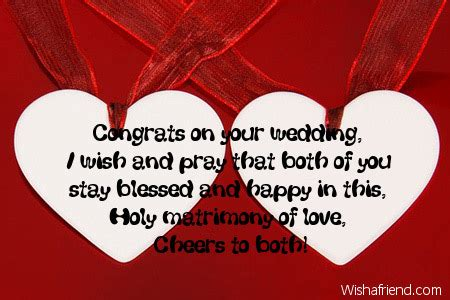 Congratulation Wedding Wishes Sles by Wish On Wedding Card Wedding Ideas 2018