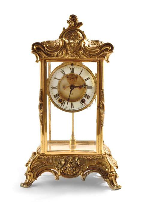 ansonia gilt metal mantel clock